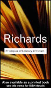 Foto Cover di Principles of Literary Criticism, Ebook inglese di I.A. Richards, edito da