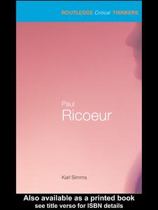 Ebook in inglese Paul Ricoeur Simms, Karl
