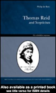 Ebook in inglese Thomas Reid and Scepticism de Bary, Philip
