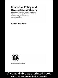 Ebook in inglese Education Policy and Realist Social Theory Wilmott, Robert