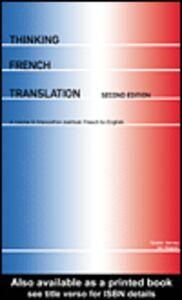 Foto Cover di Thinking French Translation, Ebook inglese di Sándor Hervey,Ian Higgins, edito da
