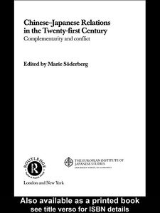 Foto Cover di Chinese-Japanese Relations in the Twenty First Century, Ebook inglese di Marie Söderberg, edito da