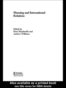 Ebook in inglese Meaning and International Relations