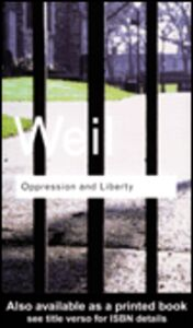 Foto Cover di Oppression and Liberty, Ebook inglese di Simone Weil, edito da