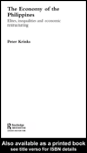 Ebook in inglese The Economy of the Philippines Krinks, Peter