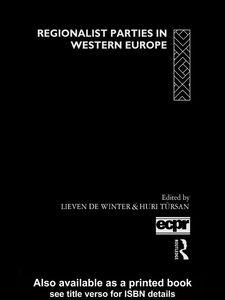 Foto Cover di Regionalist Parties in Western Europe, Ebook inglese di Huri Tursan,Lieven De Winter, edito da