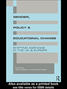 Ebook in inglese Gender, Policy and Educational Change