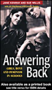 Ebook in inglese Answering Back Blackmore, Jill , Kenway, Jane , Rennie, Leonie , Willis, Sue