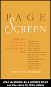 Ebook in inglese Page to Screen