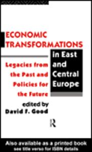 Ebook in inglese Economic Transformations in East and Central Europe