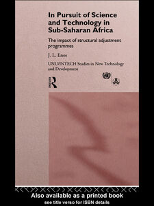 Ebook in inglese In Pursuit of Science and Technology in Sub-Saharan Africa Enos, John