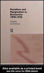 Ebook in inglese Socialism & Marginalism in Economics 1870 - 1930