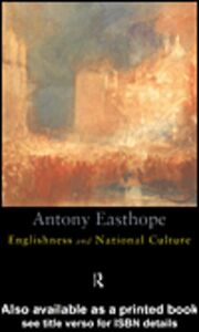 Ebook in inglese Englishness and National Culture Easthope, Antony