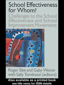 Ebook in inglese School Effectiveness for Whom?