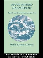 Flood Hazard Management: British and International Perspectives