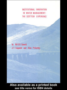 Foto Cover di Institutional Innovation in Water Management: The Scottish Experience, Ebook inglese di AA.VV edito da