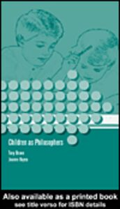 Foto Cover di Children as Philosophers, Ebook inglese di Joanna Haynes, edito da