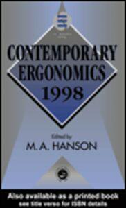 Foto Cover di Contemporary Ergonomics 1998, Ebook inglese di Margaret Hanson, edito da