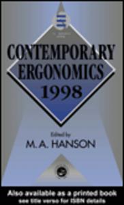 Ebook in inglese Contemporary Ergonomics 1998