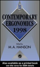 Contemporary Ergonomics 1998