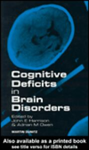 Foto Cover di Cognitive Deficits in Brain Disorders, Ebook inglese di John Harrison,Adrian Owen, edito da
