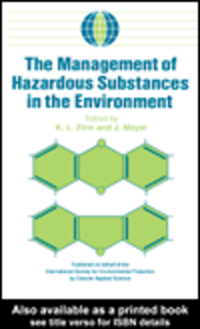 Ebook in inglese The Management of Hazardous Substances in the Environment