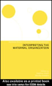 Ebook in inglese Interpreting the Maternal Organization