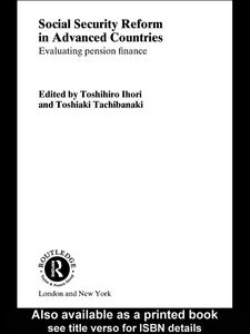 Ebook in inglese Social Security Reform in Advanced Countries