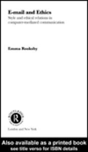 Foto Cover di Email and Ethics, Ebook inglese di Emma Rooksby, edito da
