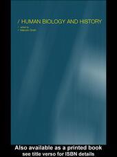 Human Biology and History