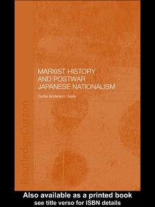 Foto Cover di Marxist History and Postwar Japanese Nationalism, Ebook inglese di Curtis Anderson Gayle, edito da