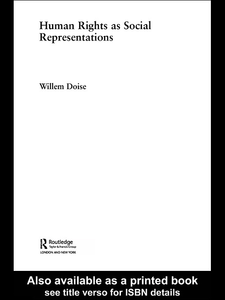 Ebook in inglese Human Rights as Social Representations Doise, Willem