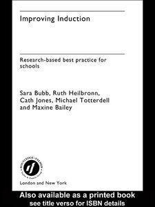 Ebook in inglese Improving Induction Bailey, Maxine , Bubb, Sara , Heilbronn, Ruth , Jones, Cath