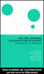 Ebook in inglese HRD and Learning Organisations in Europe