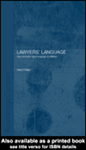 Ebook in inglese Lawyers' Language Phillips, Alfred
