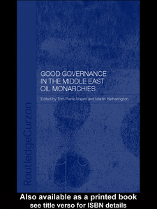 Ebook in inglese Good Governance in the Middle East Oil Monarchies