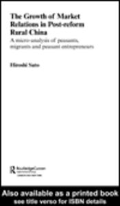 Ebook in inglese The Growth of Market Relations in Post-reform Rural China Sato, Hiroshi