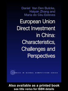 Ebook in inglese European Union Direct Investment in China