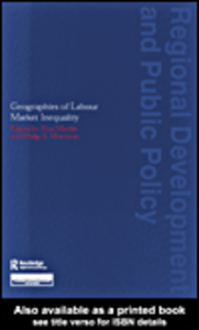Ebook in inglese Geographies of Labour Market Inequality