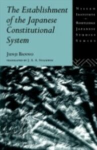Ebook in inglese Establishment of the Japanese Constitutional System Banno, Junji
