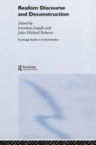 Foto Cover di Realism Discourse and Deconstruction, Ebook inglese di  edito da Taylor and Francis