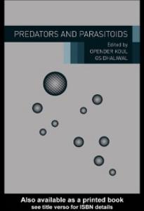 Ebook in inglese Predators and Parasitoids -, -
