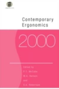 Foto Cover di Contemporary Ergonomics 2000, Ebook inglese di  edito da Taylor and Francis
