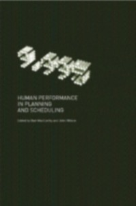 Ebook in inglese Human Performance in Planning and Scheduling -, -