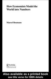 Ebook in inglese How Economists Model the World into Numbers Boumans, Marcel
