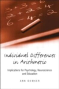 Ebook in inglese Individual Differences in Arithmetic Dowker, Ann