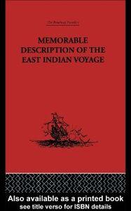 Ebook in inglese Memorable Description of the East Indian Voyage Bontekoe, Willem Ysbrantsz