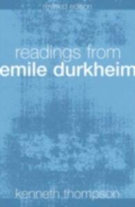 Foto Cover di Readings from Emile Durkheim, Ebook inglese di  edito da Taylor and Francis