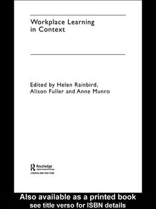 Foto Cover di Workplace Learning in Context, Ebook inglese di AA.VV edito da