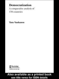 Foto Cover di Democratization, Ebook inglese di Tatu Vanhanen, edito da